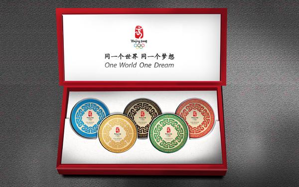 北京2008年奥运会纪念版普洱茶包装设计
