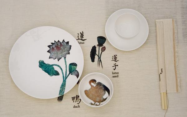 四季 (4 season) 餐具图案设计