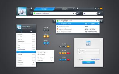 猎豹浏览器UI设计