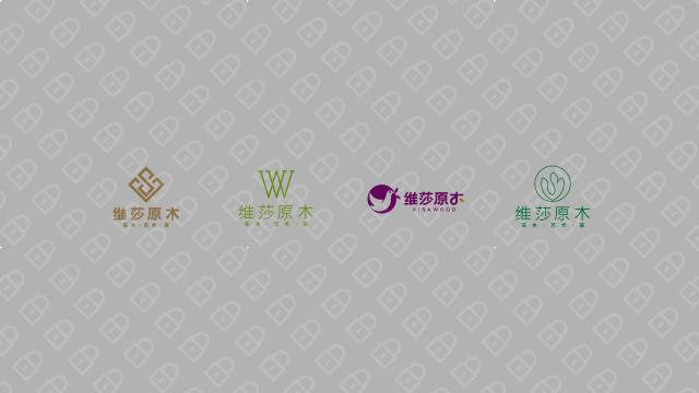 维莎原木家具品牌LOGO设计入围方案1