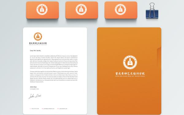 黄钟艺术培训学校logo设计