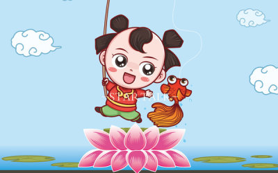 【渔童】卡通形象设计