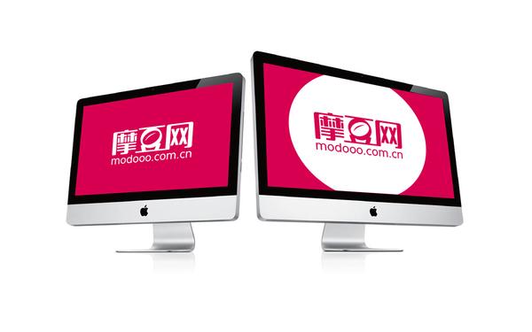 摩豆网logo、品牌官网设计