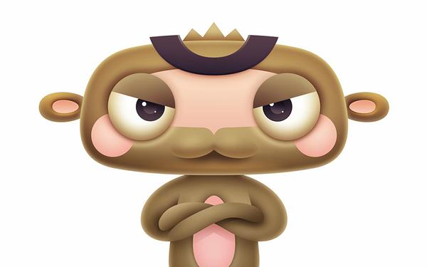 雷猴科技卡通形象设计