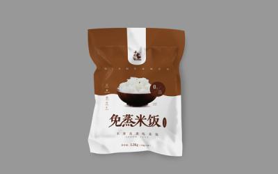 免蒸米系列包装设计。
