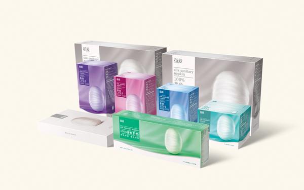茧爱品牌蚕丝卫生巾包装设计
