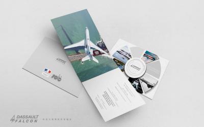 達索獵鷹公務機品牌單頁設計