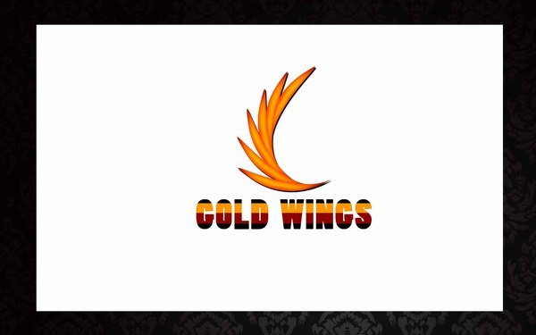 金色翅膀LOGO设计商标应用