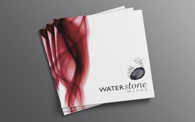 水石红酒画册设计