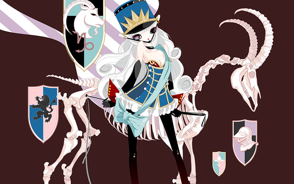 時尚星座插畫-天蝎、摩羯、處女座