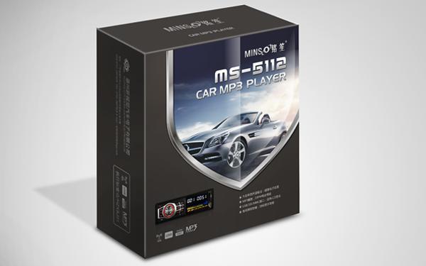 汽車品牌汽車MP3外盒包裝設計