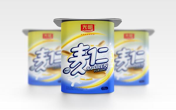 麦仁酸奶包装设计