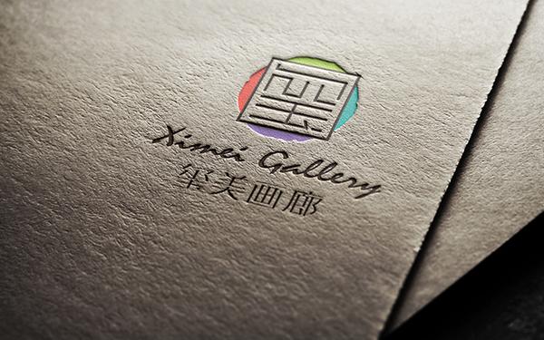 玺美艺术空间logo设计
