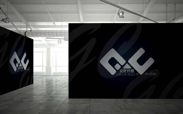 G.C文化传媒LOGO设计以及文化墙展板设计