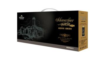黑啤高端啤酒包裝盒設計