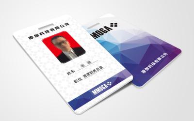 摩伽科技公司的工作卡设计