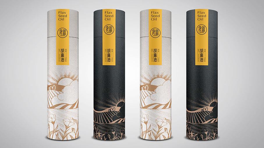 食恩胡麻油包装设计中标图1