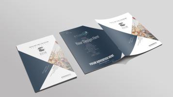莫奈装饰品牌广告折页设计
