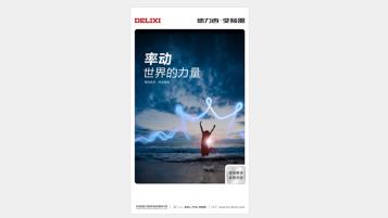 德力西電子品牌廣告單頁設計