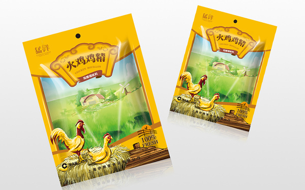 猛鲜鸡精形象包装设计