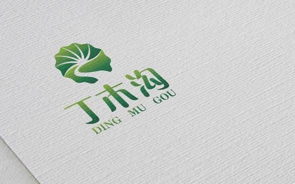 丁木沟品牌标志设计