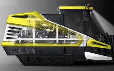 农业车辆设计甘蔗收获机工业设计...