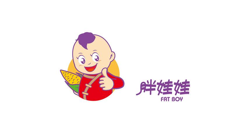 胖娃娃食品品牌吉祥物设计