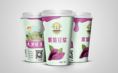 十杯香五谷豆浆 包装设计
