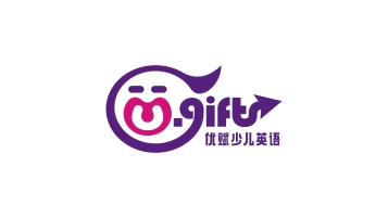 U-gift 优赋儿童英语教育LOGO设计