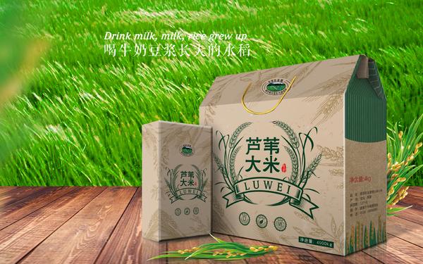 蘆葦大米包裝設計