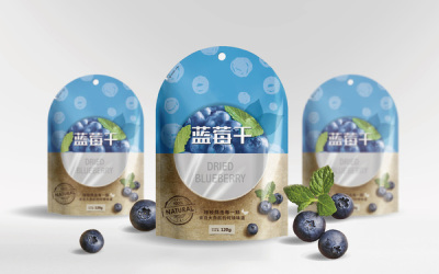 蓝莓干包装设计
