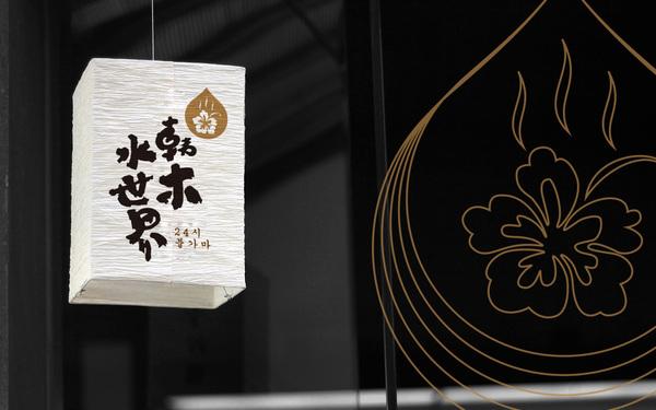 韩木水世界logo设计