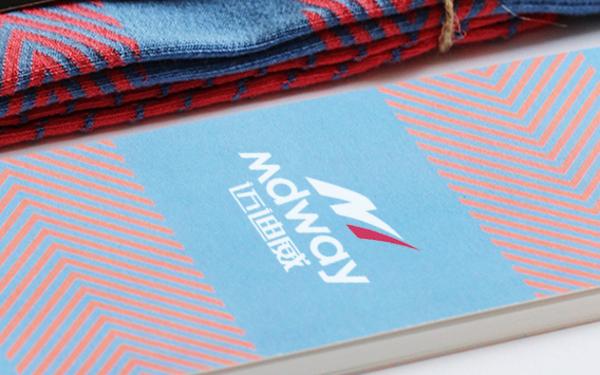 迈迪威袜业品牌标志/包装设计