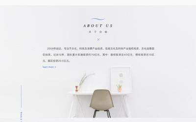 合鲸资本网站设计