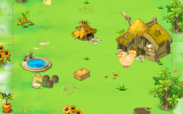 小雞咯咯噠微信小游戲界面設計