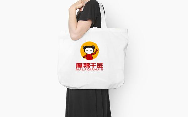 麻辣千金标志设计