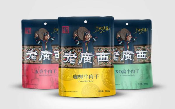 牛肉干/黑猪肉/坚果/鸭脖/红枣糕/食品类的包装设计