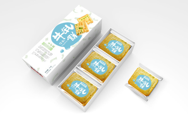 优之良品 蝴蝶酥 牛扎饼包装设计