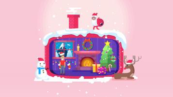 特创易圣诞节LOGO主题海报设计