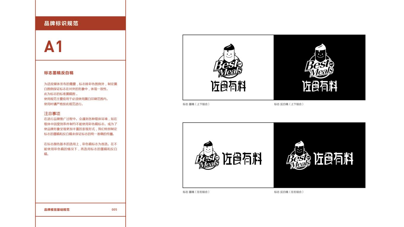 佐食有料餐饮品牌VI设计中标图6