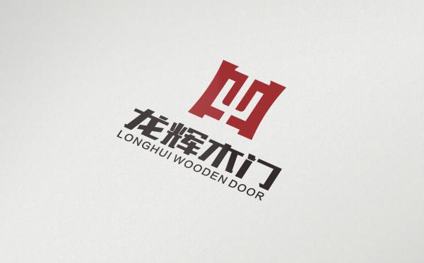 龙辉木门logo设计