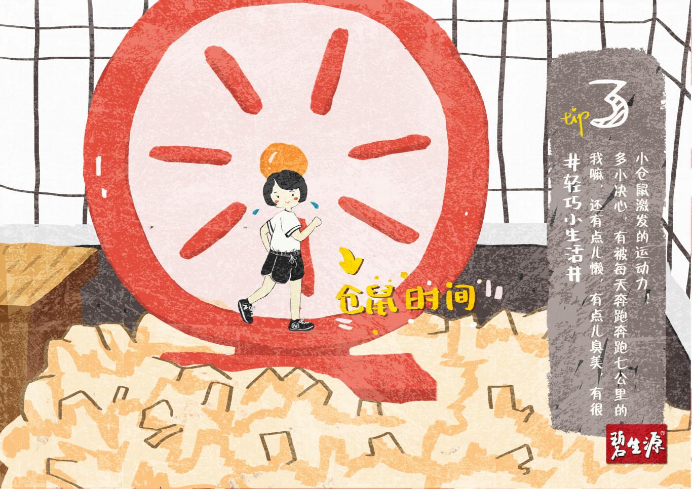 碧生源减肥茶_碧生源减肥产品的系列插画海报-商业插画作品|公司-特创易·GO
