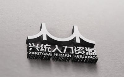 兴统人力资源标志设计
