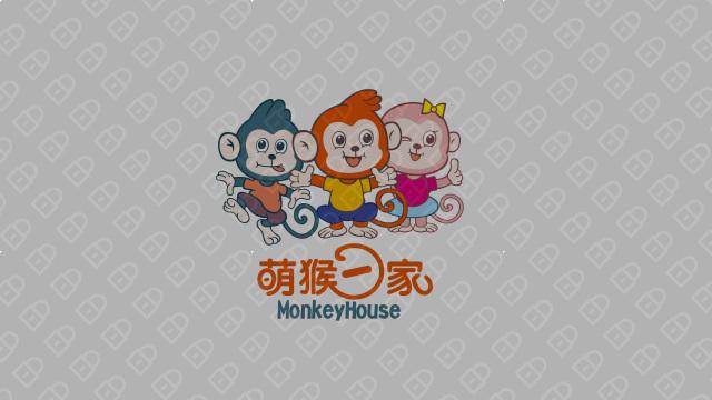 萌猴一家(吉祥物设计)入围方案0