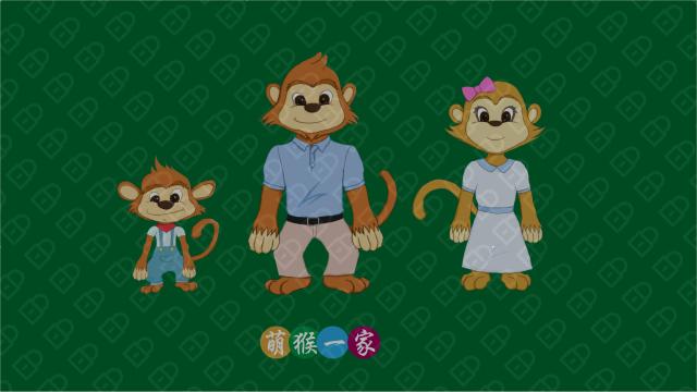 萌猴一家(吉祥物设计)入围方案1