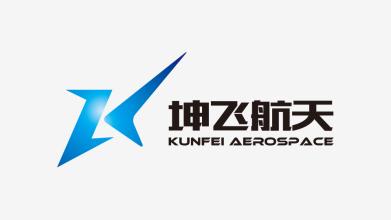 坤飛航天綜合服務品牌LOGO設計