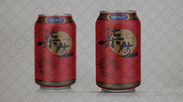 柒生饮品包装设计入围方案1