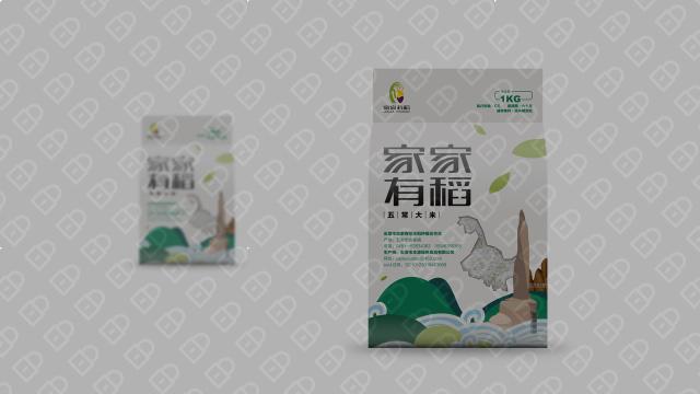 家家有稻农产品品牌包装设计入围方案1
