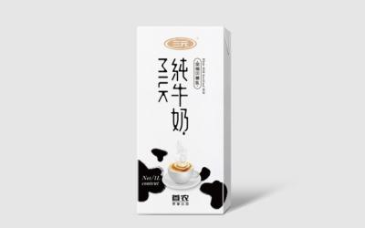 三元乳业纯牛奶包装设计
