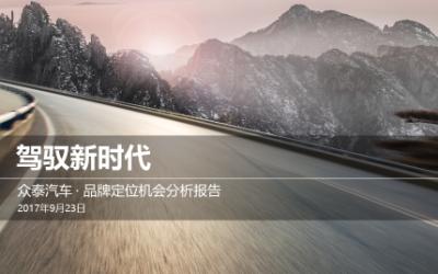 众泰汽车品牌定位项目